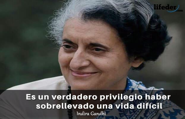 As 75 melhores frases de Indira Gandhi 1