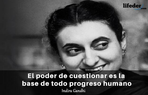 As 75 melhores frases de Indira Gandhi 2