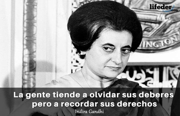 As 75 melhores frases de Indira Gandhi 4