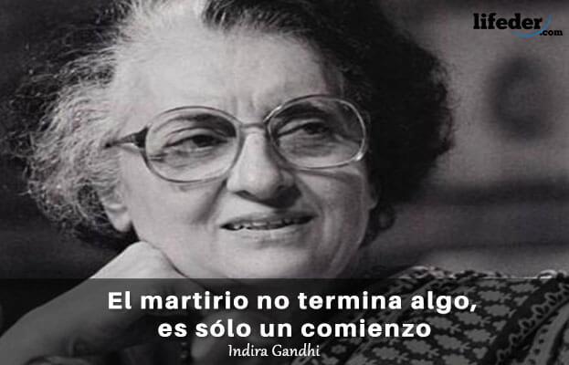 As 75 melhores frases de Indira Gandhi 7