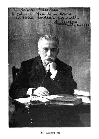 Auguste Escoffier: biografia, contribuições e obras 1