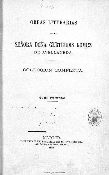 Gertrudis Gómez de Avellaneda: biografia e obras 2