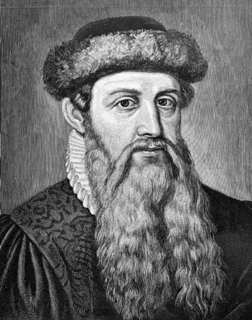 Johannes Gutenberg: biografia, imprensa, honras, dados 1