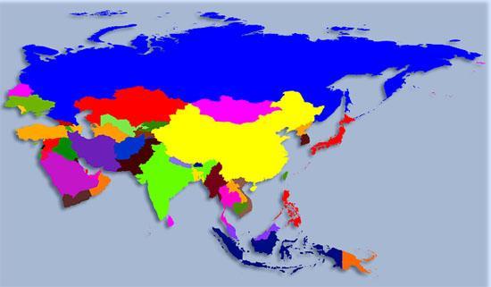 Qual é o continente mais populoso do mundo? 1