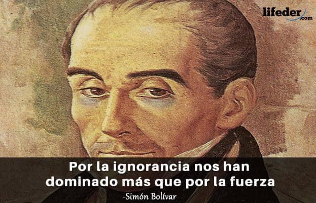 As 100 melhores frases de Simón Bolívar 12