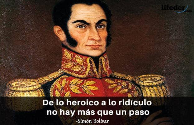 As 100 melhores frases de Simón Bolívar 14