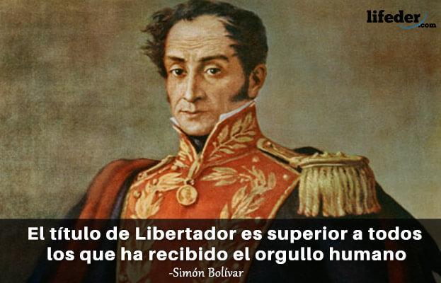 As 100 melhores frases de Simón Bolívar 4