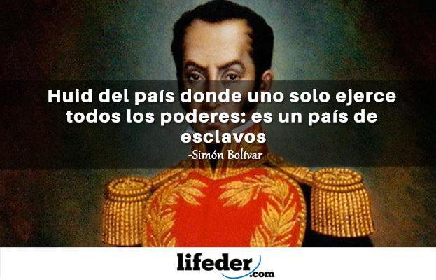 As 100 melhores frases de Simón Bolívar 6