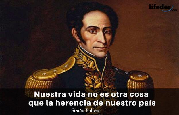 As 100 melhores frases de Simón Bolívar 9