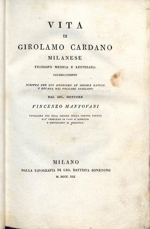 Gerolamo Cardano: biografia, contribuições, invenções 2