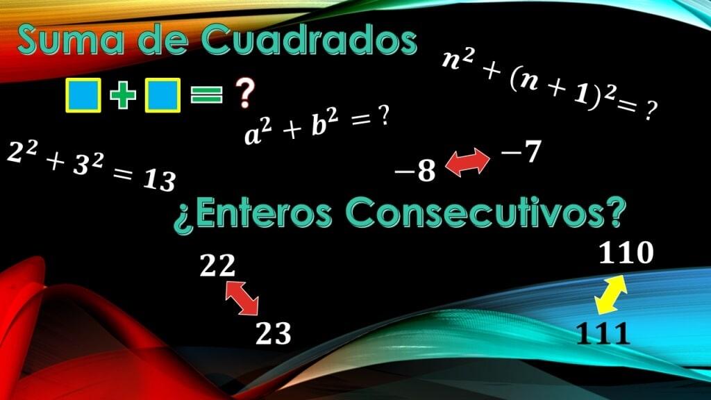 Soma dos quadrados de dois números consecutivos 1