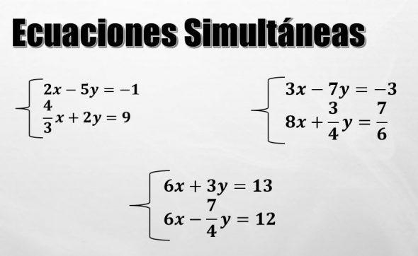 O que são equações simultâneas? (exercícios resolvidos) 1