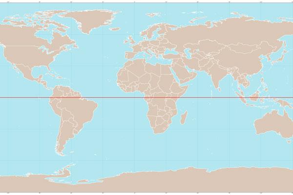 Terra Equador: características, geodésia, países, clima 1