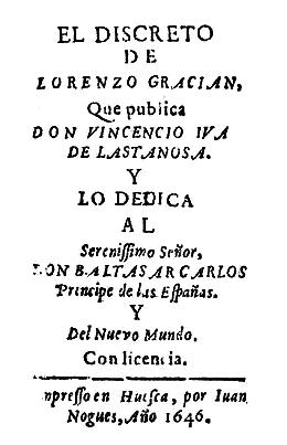 Baltasar Gracián: biografia e obras 3