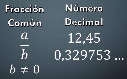 Diferença entre uma fração comum e um número decimal 1