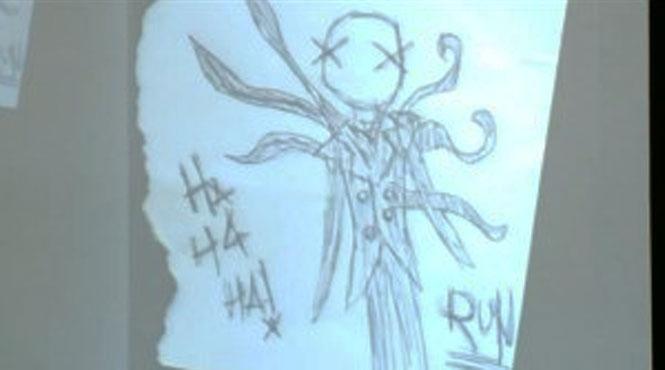 Os desenhos assustadores de uma garota assassina de 12 anos 2