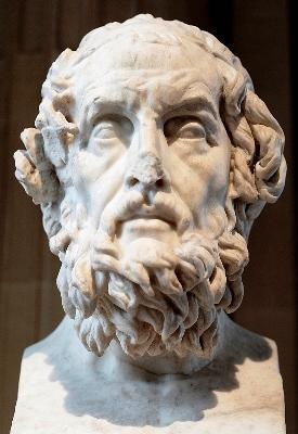 Que histórias são desenvolvidas nos poemas de Homero?