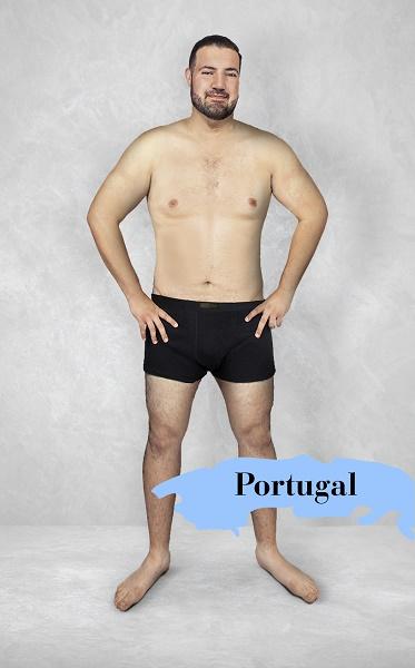 Um experimento revela como é o homem fisicamente perfeito em 19 países 14