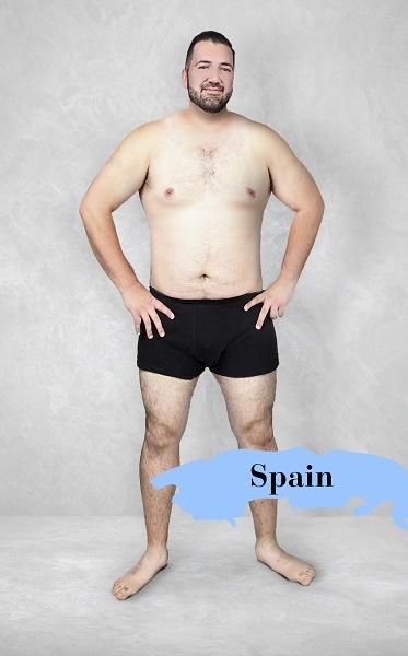 Um experimento revela como é o homem fisicamente perfeito em 19 países 18