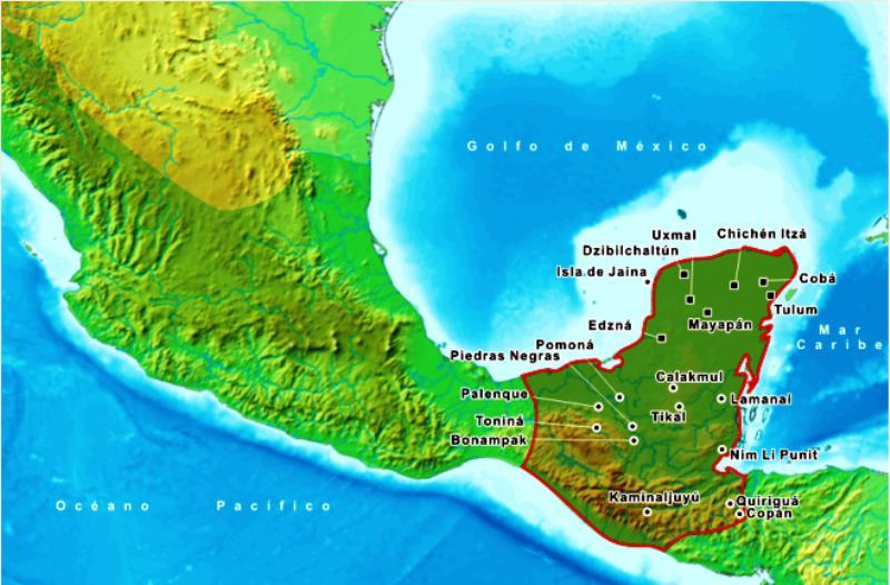 Onde foi desenvolvida a cultura maia? 1