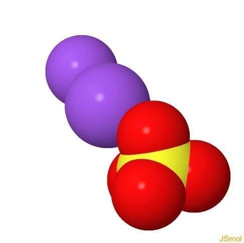 Sulfato de sódio: fórmula, propriedades, estrutura, aplicações 9