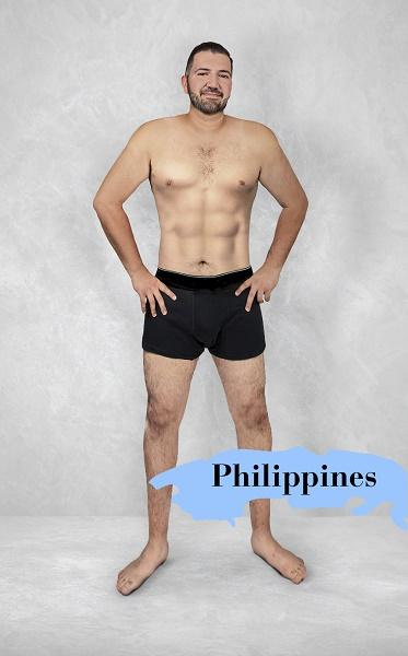Um experimento revela como é o homem fisicamente perfeito em 19 países 13