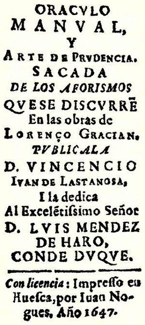 Baltasar Gracián: biografia e obras 2