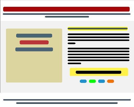 Partes de uma página da web e suas características