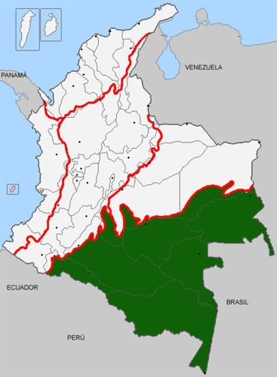 Os 8 departamentos da principal região amazônica 1