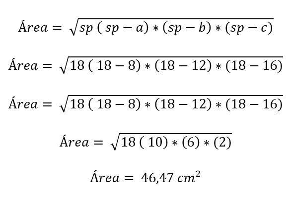 Triângulo escaleno: características, fórmula e áreas, cálculo 10