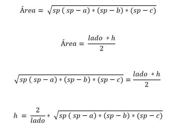 Triângulo escaleno: características, fórmula e áreas, cálculo 5