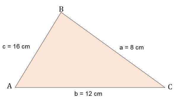 Triângulo escaleno: características, fórmula e áreas, cálculo 9