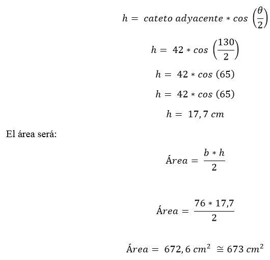 Triângulo isósceles: características, fórmula e área, cálculo 15