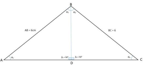 Triângulo isósceles: características, fórmula e área, cálculo 2