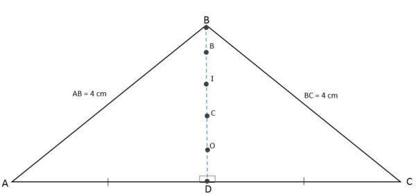 Triângulo isósceles: características, fórmula e área, cálculo 4