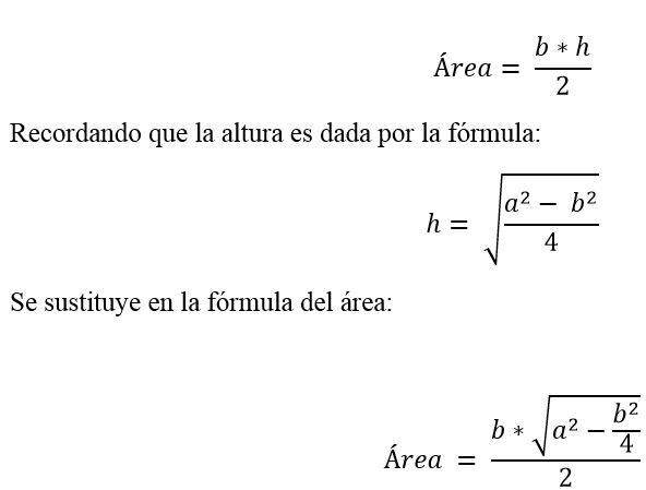 Triângulo isósceles: características, fórmula e área, cálculo 7