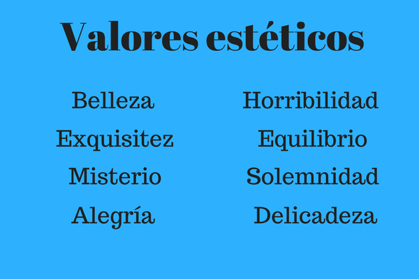 Valores estéticos: características, tipos e exemplos