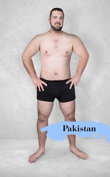 Um experimento revela como é o homem fisicamente perfeito em 19 países 12