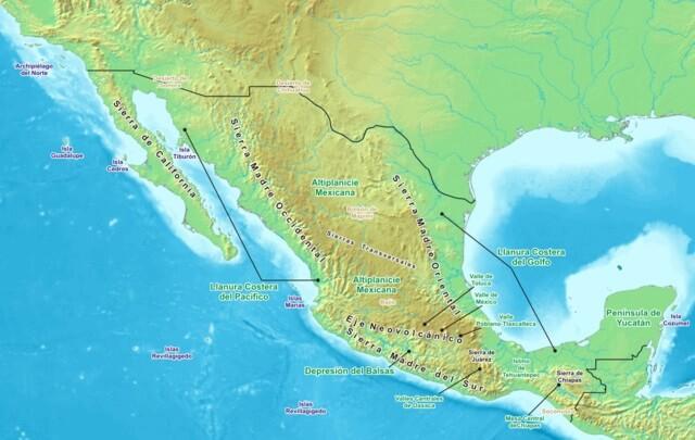 Platô mexicano: características, flora, fauna, relevo 1