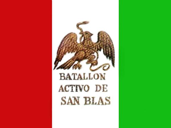 Batalhão de San Blas: história, batalha de Chapultepec e bandeira 1