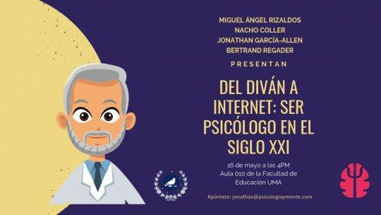 """Psicologia e Mente na Universidade de Málaga com sua palestra """"Do sofá à Internet: ser psicólogo no século XXI"""" 1"""