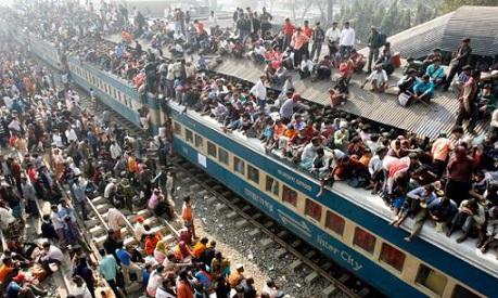 Em que continente há maior concentração populacional?