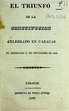 Constituição de 1830 na Venezuela: aspectos principais e importantes 1