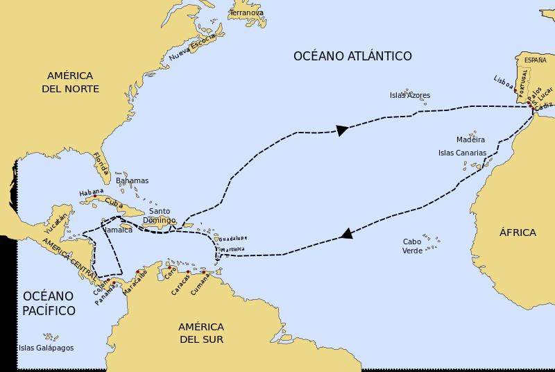 As 4 viagens de Cristóvão Colombo e seus eventos 5