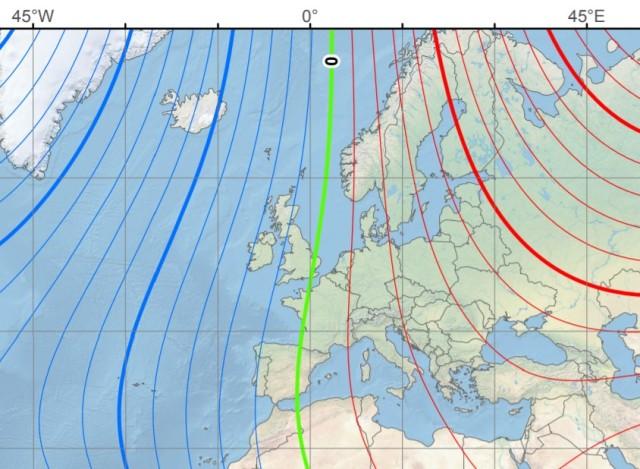 Declínio magnético: elementos e campo magnético da Terra 5