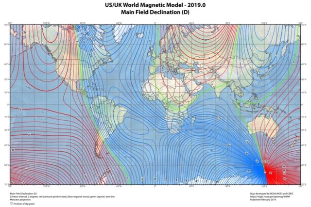 Declínio magnético: elementos e campo magnético da Terra 4