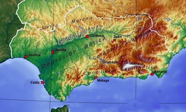Depressão do Guadalquivir: geografia, origem e relevo 1