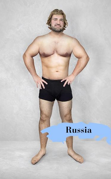 Um experimento revela como é o homem fisicamente perfeito em 19 países 15