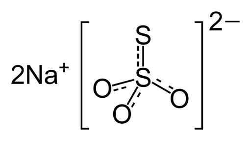 Tiossulfato de sódio (Na2S2O3): fórmula, propriedades e usos 4