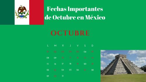 Quais são as datas importantes de outubro no México? 1